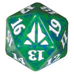 Кубик D20 (счетчик жизней) Oath of the Gatewatch (Green) фото цена описание