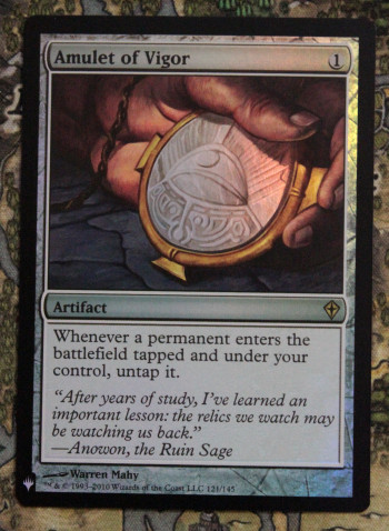 Amulet of Vigor (Foil, Mystery Booster) фото цена описание